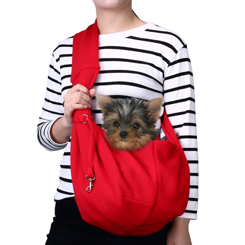 TOMKAS Pet Puppy Outdoor Travel Bag – Red