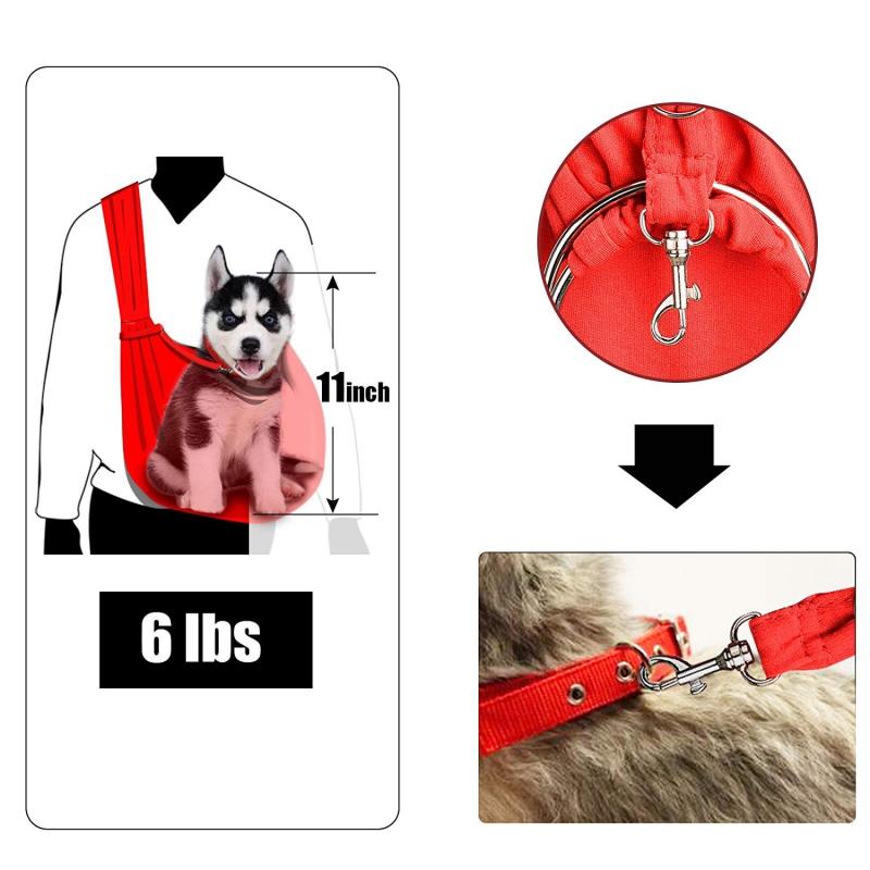TOMKAS Pet Puppy Outdoor Travel Bag – Gray