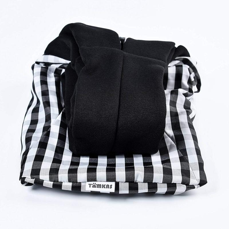 TOMKAS Pet Puppy Outdoor Travel Bag – Black