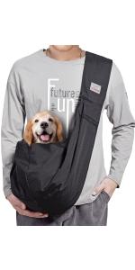 Black Medium Dog Carrier Sling