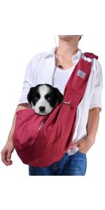 Red Medium Dog Carrier Sling