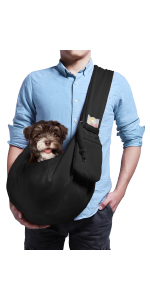 Black Small Dog Carrier Sling