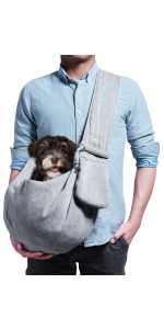 Grey Small Dog Carrier Sling